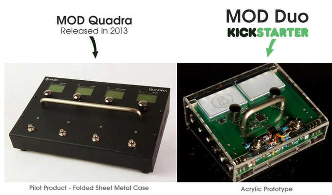 MOD Quadra (our pilot product) and the MOD Duo (our new product).