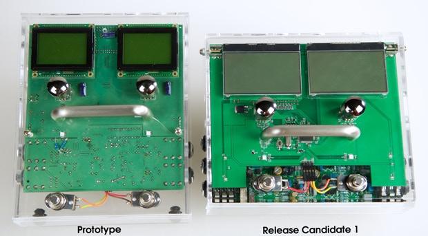 MOD Duo's acrylic prototypes.