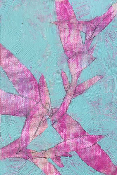 """Nature Study"", Acrylic on Canvas Panel, 2014"