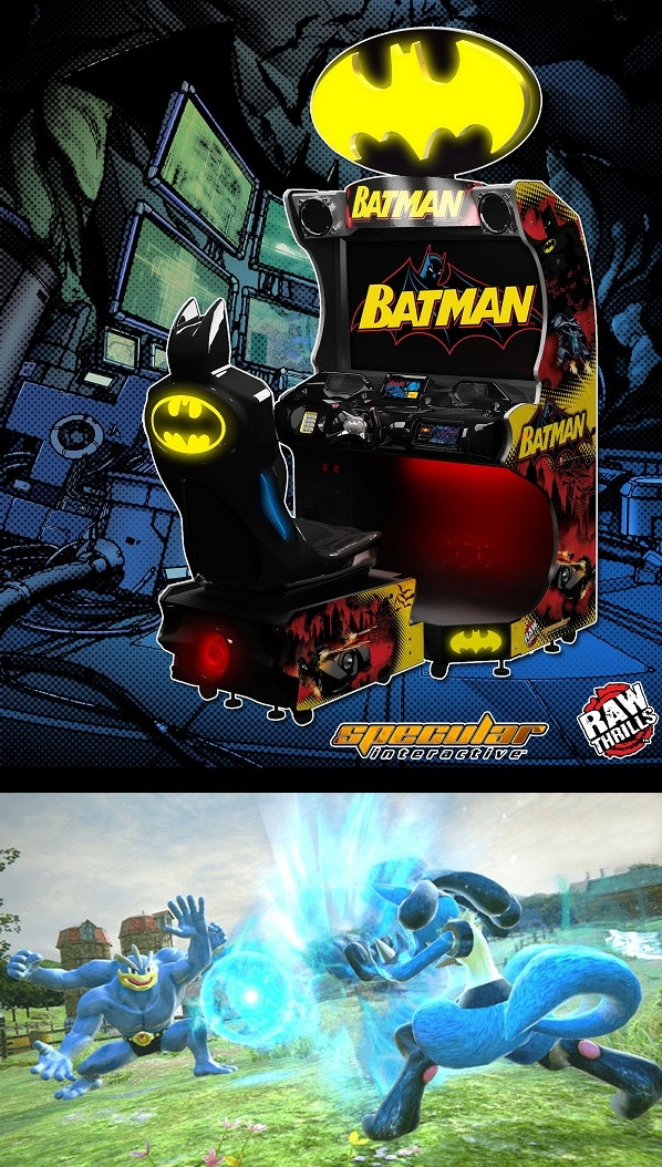 The Batmobile racing game and Pokken Tournament. Just two of the amazing new games I plan to include in my new location.