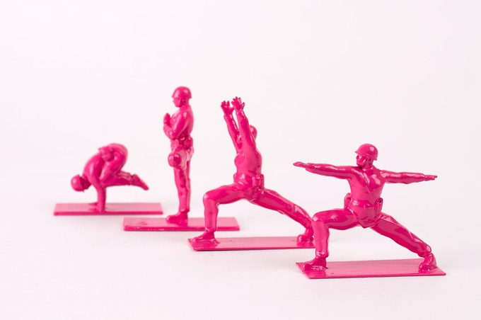 Limited-edition hot pink Yoga Joes