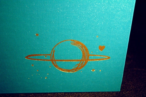 **embossed cover, early version**