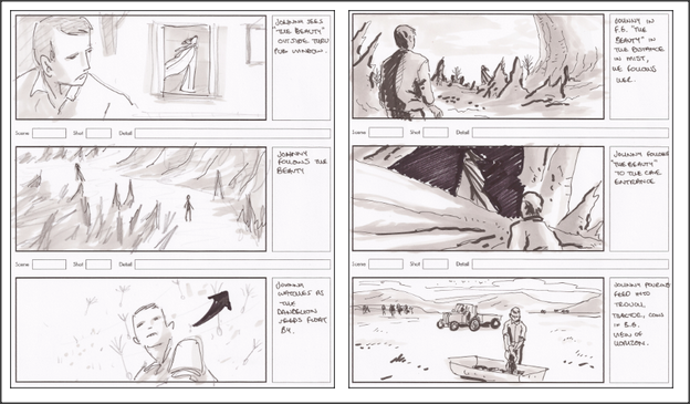 storyboards for The Merciless Beauty