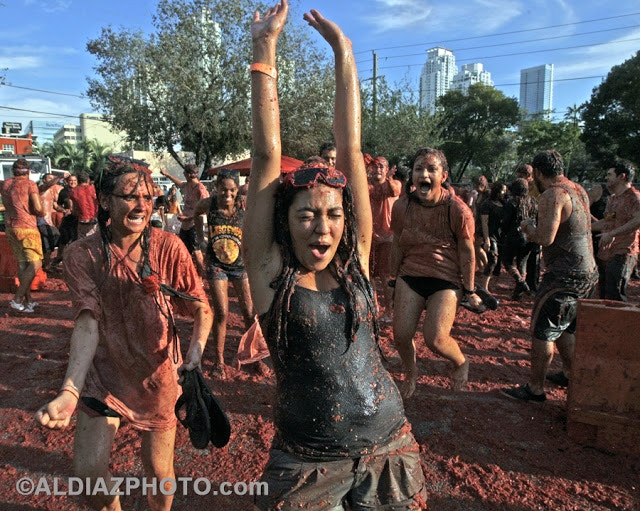 and.. one of our favorite parties! La Tomatina at Tobacco Road!  (photo: Al Diaz)