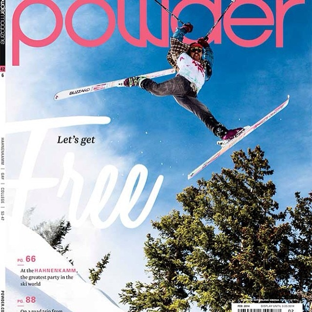 Key Player, Chris Tatsuno, on the cover of Powder.
