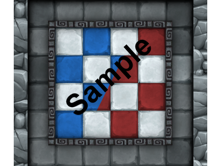 Red and Blue Checker Sample