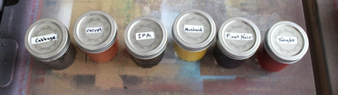 -a few of the dyes we have developed here in our studio-