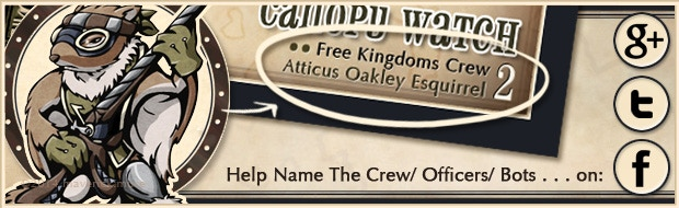 Previously on #namethat: thanks to a combo of suggestions this Free Kingdoms fellow was named Atticus Oakley Esquirrel