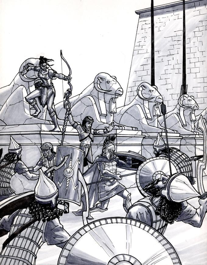 Avenue of the Rams Battle by Kieron O'Gorman