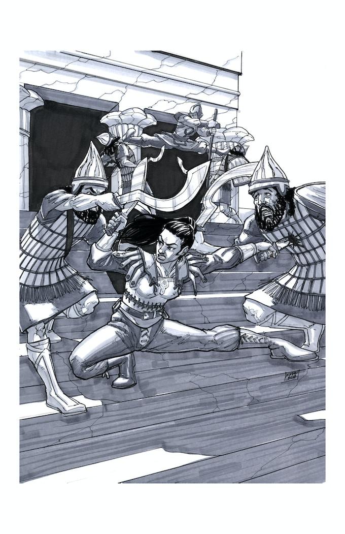 Temple Fight by Kieron O'Gorman