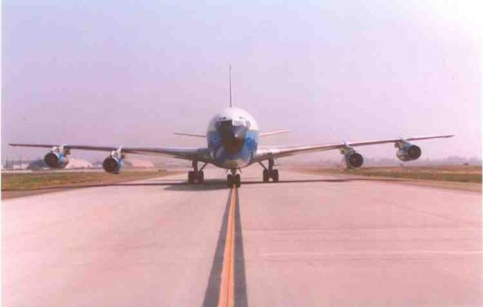 Air Force One Last flight 9-8-2001, arriving San Bernardino Airport (formally Norton AFB)
