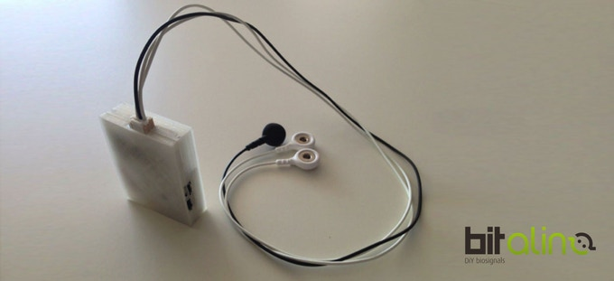 Low-cost ECG data acquisition device with 3D-printed enclosure