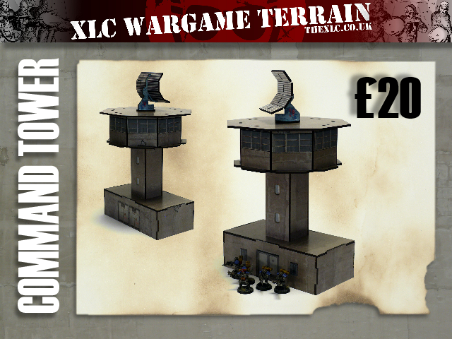 Command Tower - £20 - Size 200mm x 188mm x 250mm (Plus Dish 83mm tall)