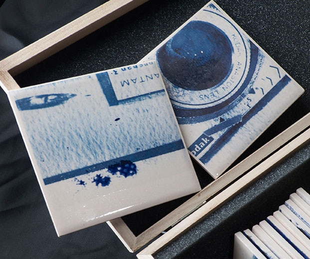 Close up of the ceramic pages