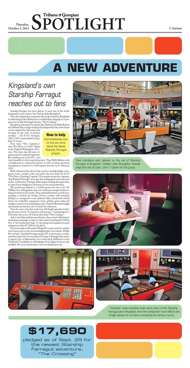 Starship Farragut: The Crossing by Farragut Films — Kickstarter