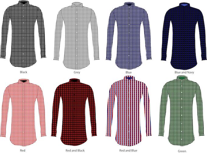 100% Egyptian Cotton Gingham Dress Shirts
