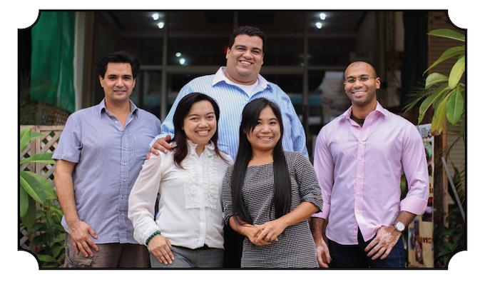 The Curious Creamery Team. LTR - Ron Tan, Dr. Rika Ratanatriwong, Dr. Jareer Abu-Ali, Ming Phuangsuk and Rajesh Naidu.