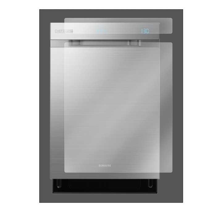 Appliance Defender Samsung Chef Collection Dishwasher Scratch Protection System Illustrated - Model # DW80H9970US