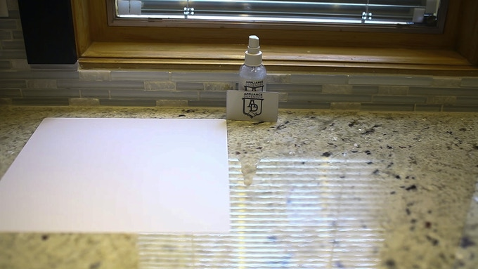 Installation kit represented, Install Squeegee card and Solution spray bottle