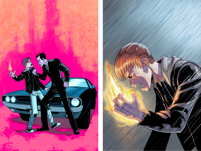 Billy & Kennedy Print (Left) | BTP #2 Cover Print (Right) by Fabian Cobos