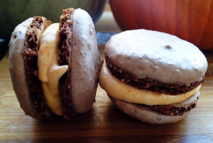 Chocolate and Heirloom Pumpkin Macarons
