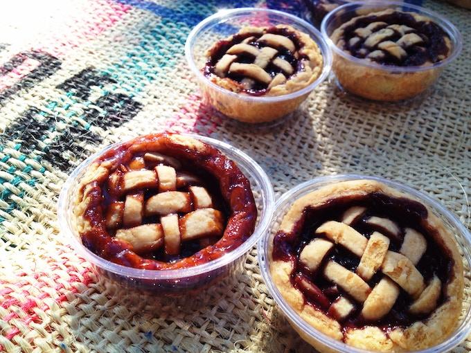 Mulberry, Raspberry, & Blueberry Mini-Pies