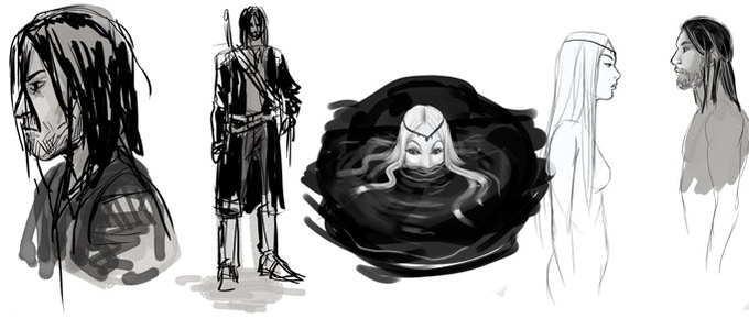A lone swordsman discovers a lake with secrets...
