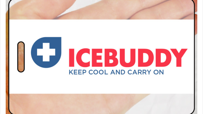 ICEBUDDY KEEP COOL AND CARRY ON - luggage tag