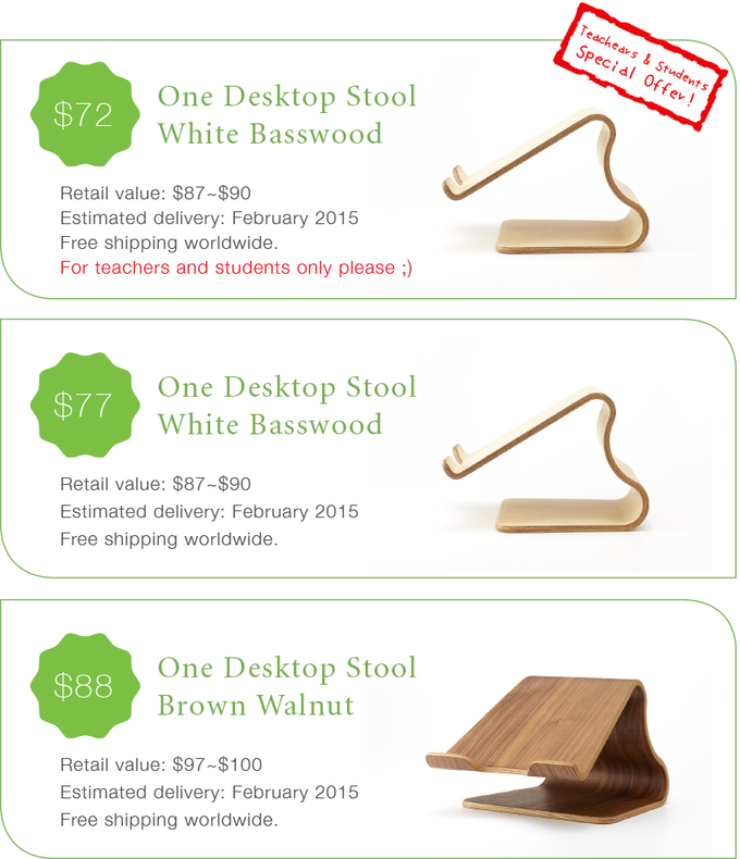 desktop stool by moku kickstarter. Black Bedroom Furniture Sets. Home Design Ideas
