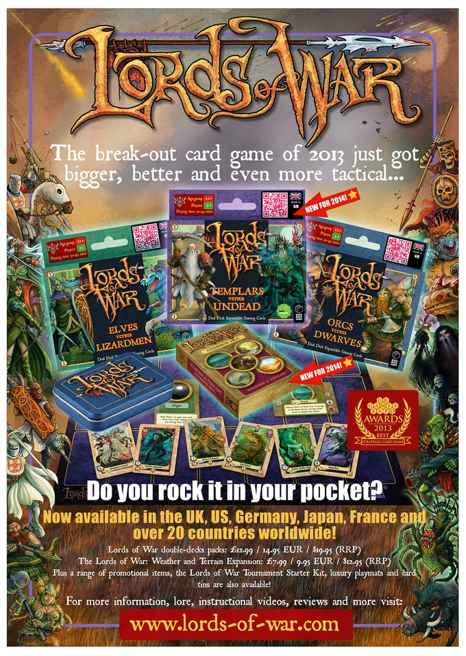 This is one of our recent sales flyers. Learn more about us on www.lords-of-war.com!