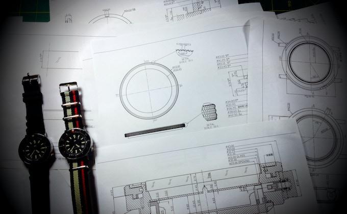 Engineering schematics.