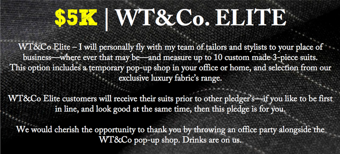 Custom Suits: WT&Co  by Wishful Thinking Clothing by