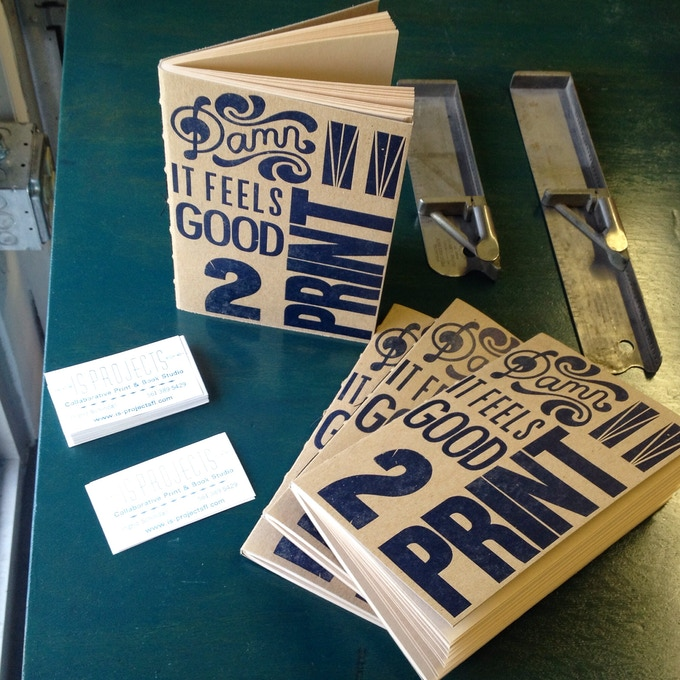 Just Added! $10 will get you this adorable journal with a letterpress printed cover that says it alll!