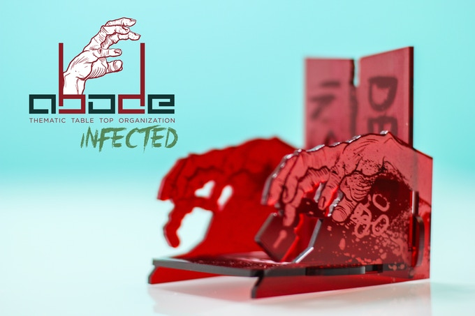 Infected Single Deck Box   (Transparent Dark Red)