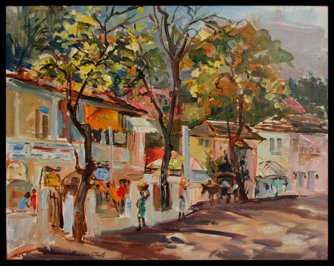 Gloucester St, Jamaica 24x20 oil on canvas