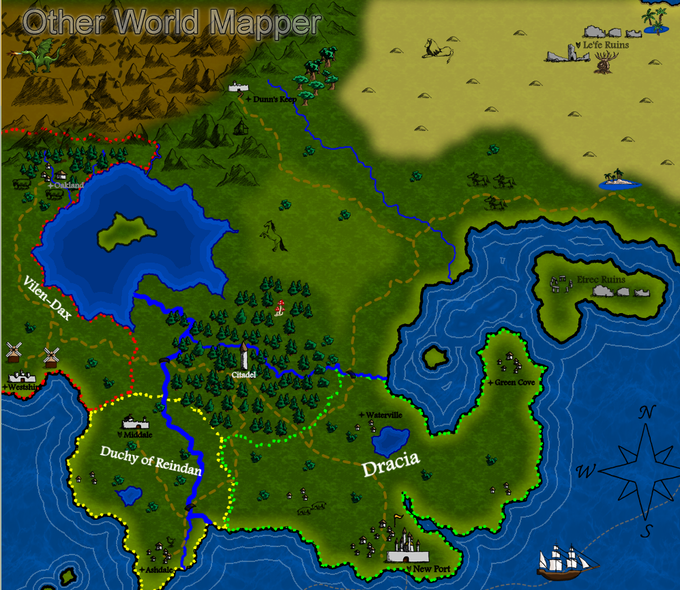 Other world mapper map design software by three minds software color map created from start to finish with other world mapper gumiabroncs