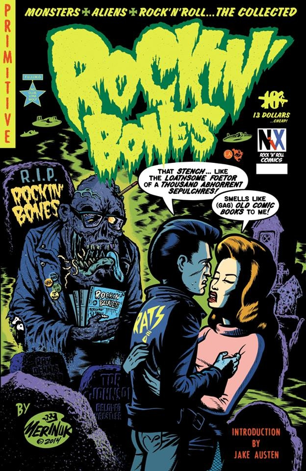 Cover to Rockin' Bones TPB by Darren Merinuk