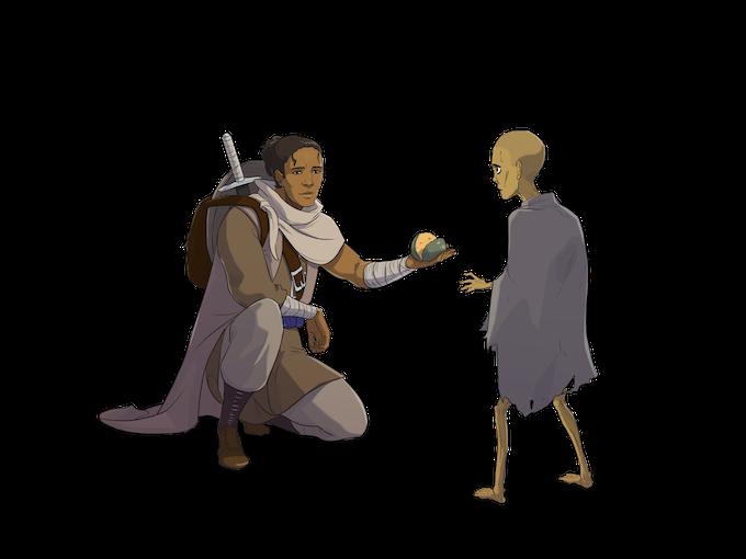 Arbiter Nayakan feeding a Tasalian child, by Lee Che