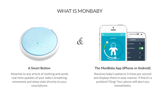 A WEARABLE BABY MONITOR IN A BUTTON