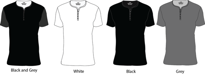 100% Organic Cotton Henley's | Also available in 3 button