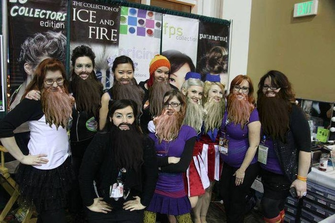 Espionage Crew at ECCC 2013 (+ Majestic Beards!)