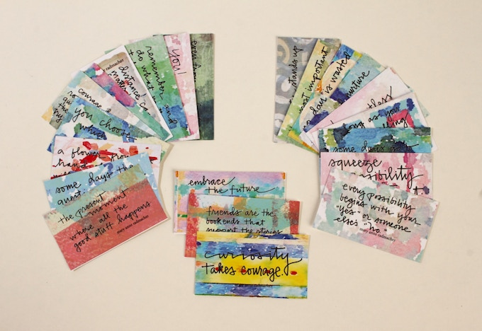 """New """"Calling Card"""" Quote/Affirmation Card Releases"""