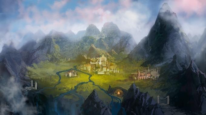 The Kastrus Valley, game world of Hazewalker