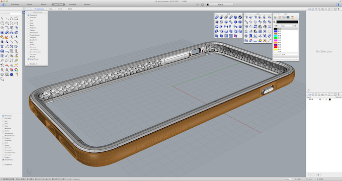 iPhone 6 bumper with honeycomb structure