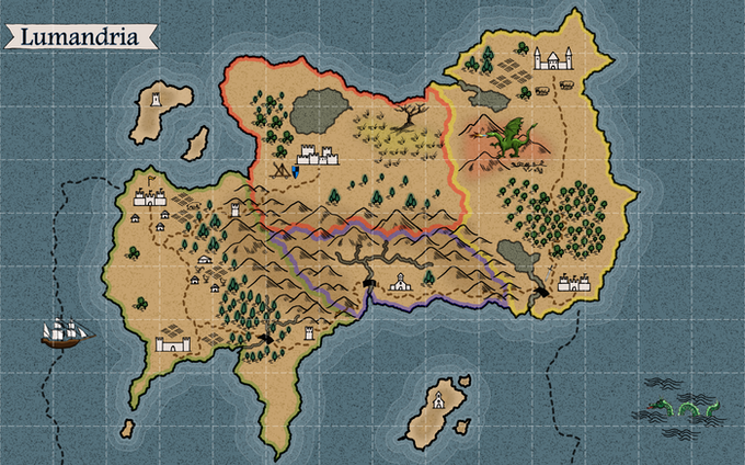 The map from our video with grid enabled (grid opacity at 32%)