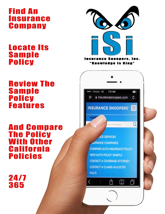 isi prowls vital insurance information from industry sources and critical parts of california auto policies this information forms our proprietary