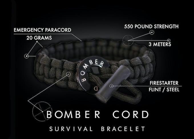 Bomber Cord - 550 Paracord Survival Bracelet