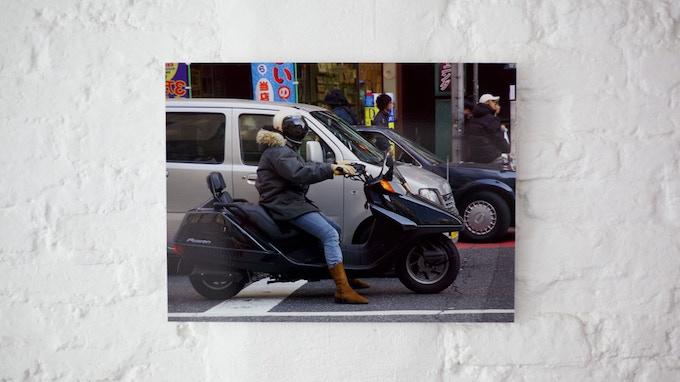 Woman on Motorbike, Tokyo, Japan 2005