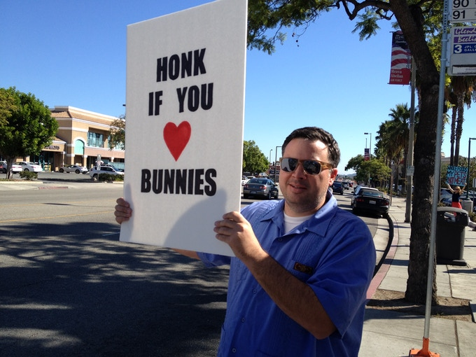 One of Scott's favorite causes. Equal rights for bunnies.