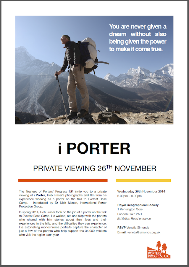 i porter - invite to the private reception
